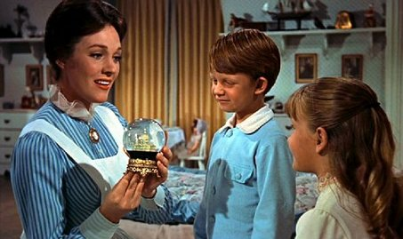 From left, Julie Andrews, Matthew Garber and Karen Dotrice in