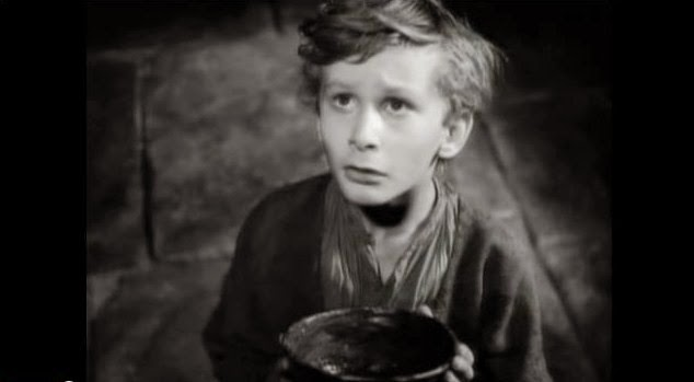 John Howard Davies as Oliver Twist in the 1948 flm by David Lean