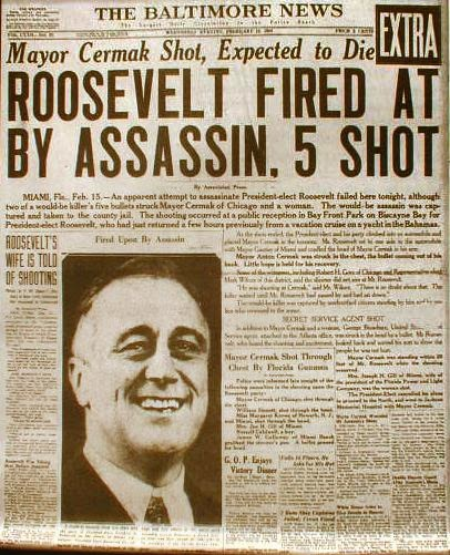 Roosevelt Assassination attempt