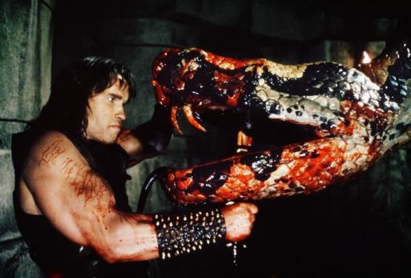 Conan The Barbarian 1982 Snake fight