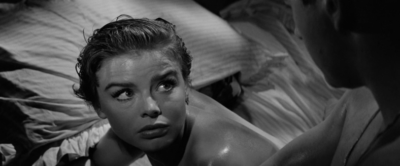 Janet Munro - The Day the Earth Caught Fire (1961) bed look
