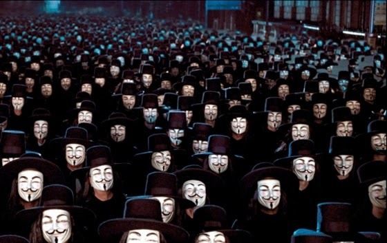 V for Vendetta-Guy Fawkes Masks Sequence